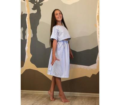Платье для девочек ПН-0021 полоска