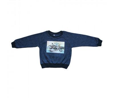 Джемпер детский ДД-001 мотоцикл/синий