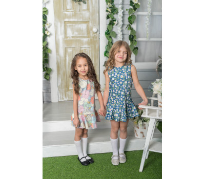 Платье для девочек ПП-007Х/БПринт ромашки