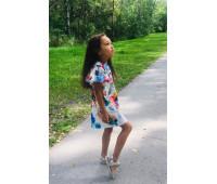 Платье для девочек ПН-006-19 розы