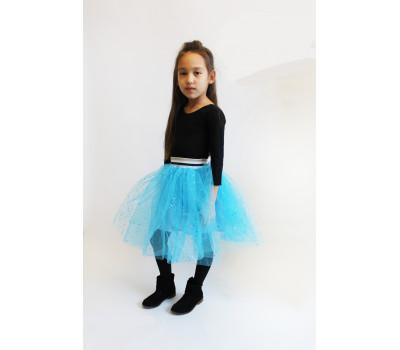 Юбка для девочек ЮД-005 голубой