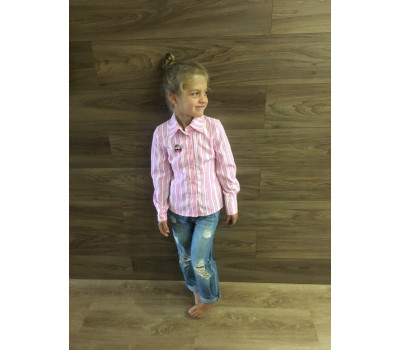 Рубашка на девочку РД-001 клетка