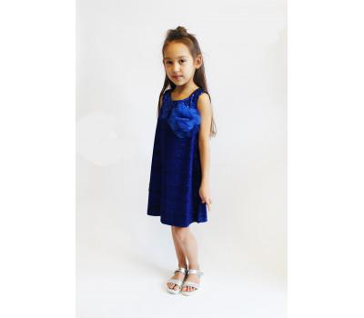 Платье для девочки арт.ПН-0026 паетки/синий