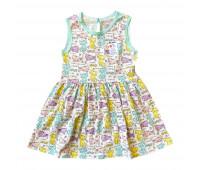 Платье для девочек ПД-105 кошки
